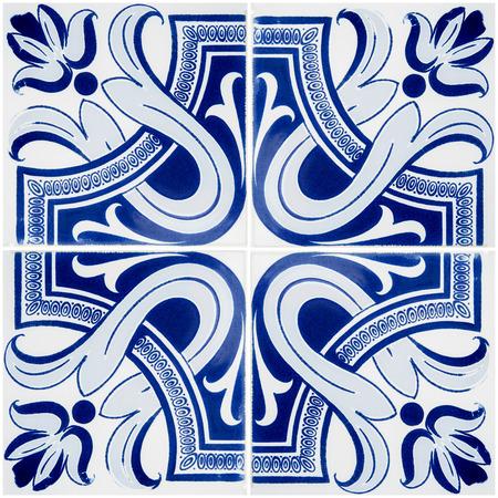Nahaufnahme Detail der alten portugiesischen Kacheln.