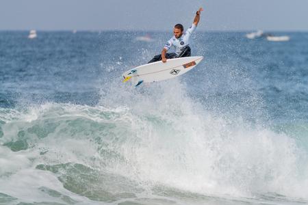 PENICHE, PORTUGAL - OCTOBER 23, 2015: Caio Ibelli BRA during the Moche Rip Curl Pro Portugal, Mens Samsung Galaxy Championship Tour 10. Editorial