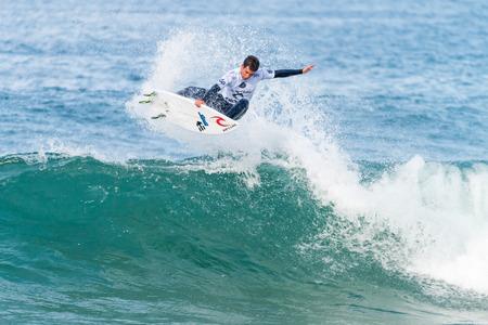 PENICHE, PORTUGAL - OCTOBER 23, 2015: Mason Ho HAW during the Moche Rip Curl Pro Portugal, Mens Samsung Galaxy Championship Tour 10.