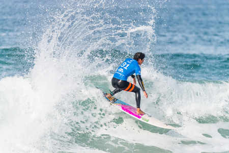 asp: PENICHE, PORTUGAL - OCTOBER 23, 2015: Miguel Pupo BRA during the Moche Rip Curl Pro Portugal, Mens Samsung Galaxy Championship Tour 10. Editorial