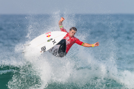 PENICHE, PORTUGAL - OCTOBER 23, 2015: Julian Wilson AUS during the Moche Rip Curl Pro Portugal, Mens Samsung Galaxy Championship Tour 10.