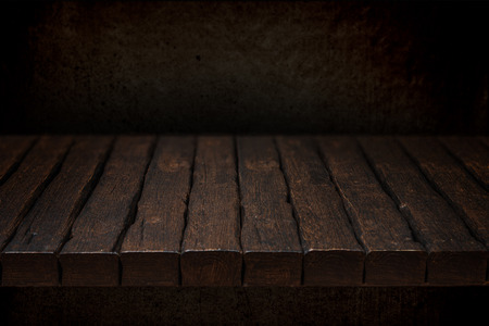 Black Wood Table Top Old Rustic Wooden With Solid Background Photo