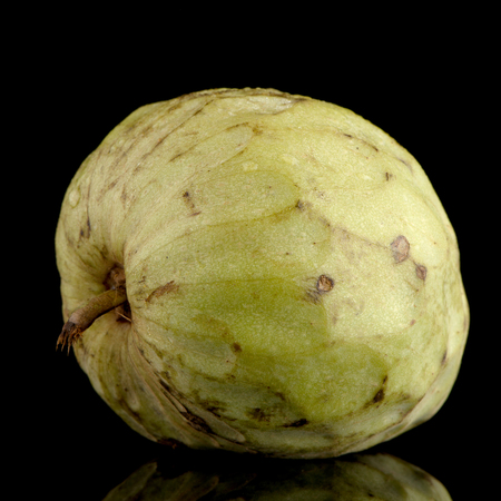 anona: Fresh Custard Apple isolated on black background.