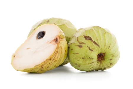 anona: Fresh Custard Apple isolated on white background.