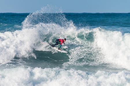 silva: ERICEIRA, PORTUGAL - JANUARY 12, 2015: Deivid Silva BRA during the 2016 World Junior Championships, Mens Junior Tour 1 at Ribeira DIlhas beach - Ericeira, Portugal.