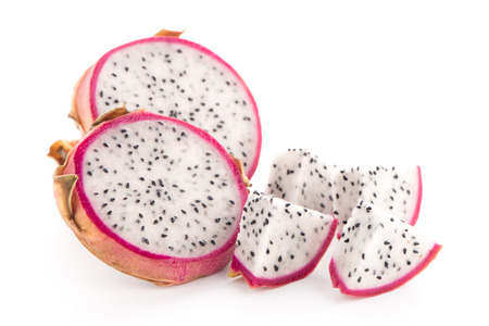 jhy: Pitaya or Dragon Fruit isolated on white background.