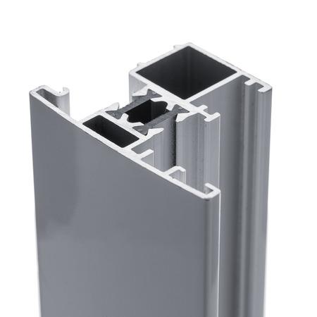 Aluminum profile accessory isolated on white background.