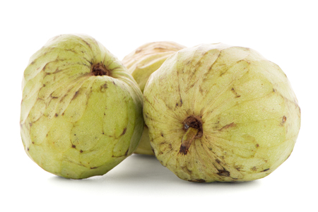reticulata: Custard apple, also known as Bullocks or Bulls Heart on white background.