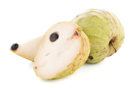 sweetsop: Sugar Apple or Custard Apple on white background.
