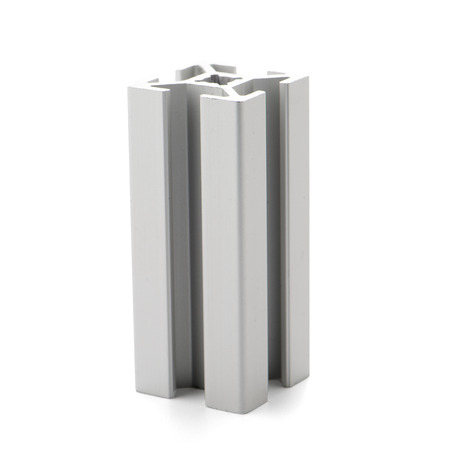 aluminium: Aluminium profile sample isolated on white background.