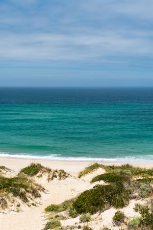 praia: Praia Del Rei, Portugal. Portuguese Atlantic coast.