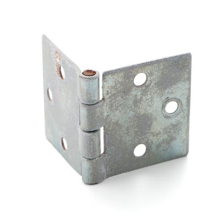 hinge: Single door hinge isolated on white background.