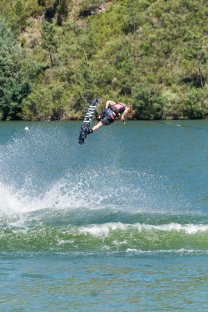 dowdy: FERREIRA DO ZEZERE, PORTUGAL - JUNE 12, 2016: Mike Dowdy (USA) during the 2016 Nautique European Pro Am presented by Rockstar Energy.
