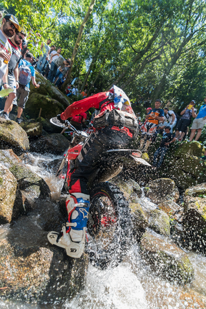 esp: PENAFIEL, PORTUGAL - JUNE 19, 2016: Expert pilot Melcior Beltran (ESP) during the Extreme Lagares 2016.