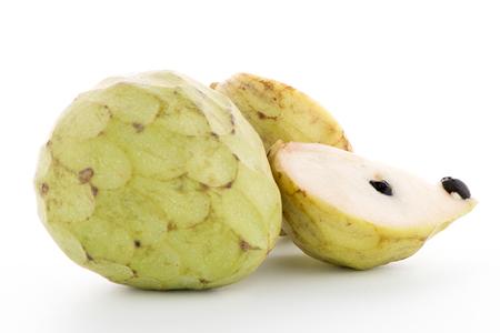 sweetsop: Fresh Custard Apple isolated on white background.