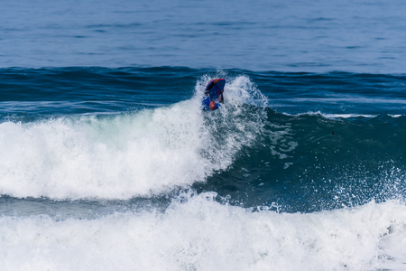 VIANA DO CASTELO, PORTUGAL - SEPTEMBER 22, 2016: Mike Stewart (HAW) during  the Viana World Bodyboard Championship 2016.