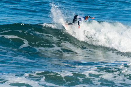 CASCAIS, PORTUGAL - SEPTEMBER 28, 2016: Nomme Mignot (FRA) during the 2016 Billabong Pro Cascais at Guinchos Beach - Cascais, Portugal. Editorial