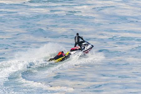 NAZARE, PORTUGAL - DECEMBER 20, 2016: Joao de Macedo (PRT) during the Nazare Challenge 2016 - Big Wave Tour #3 at Praia do Norte - Nazare, Portugal.
