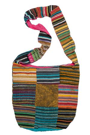 shoulder bag: Indian shoulder bag isolated on white background. Stock Photo
