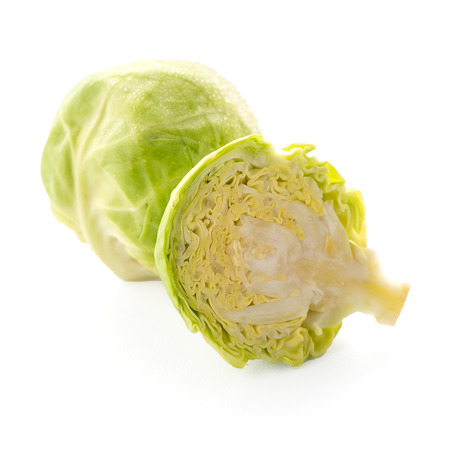 Fresh brussels sprouts isolated on white background. Stockfoto