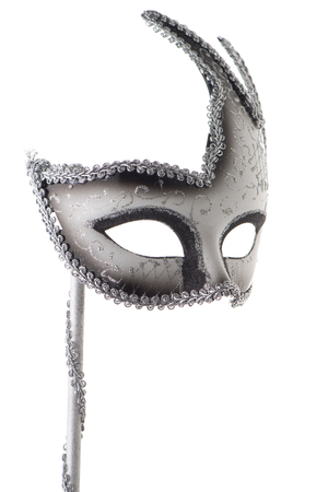 Carnival mask isolated on white background 免版税图像