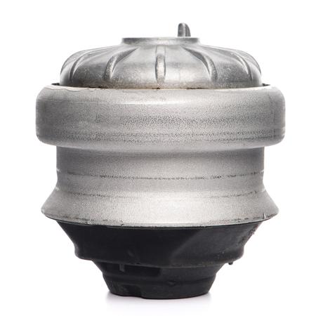 Car engine mouting holder isolated on white background.