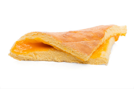 Guardanapo typical portuguese pastry, isolated on white background.