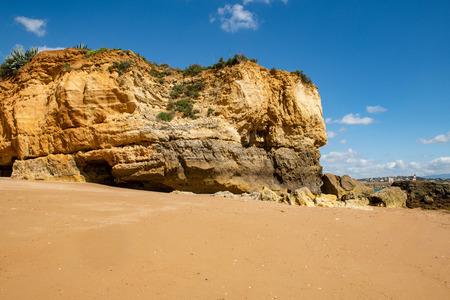 Beach Batata in Lagos in the Algarve , Portugal. Stock Photo