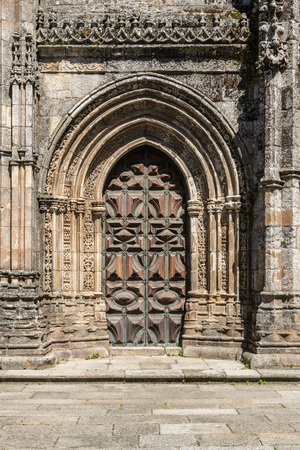 Details of the main facade of the Cathedral of Lamego, Portugal.