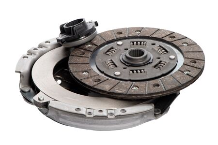 Car clutch isolated on white background. Stockfoto