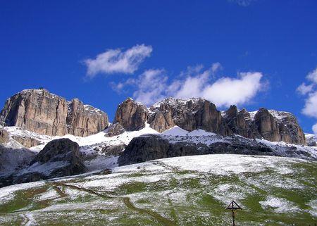 mountain pass: Mountains in Val Gardena