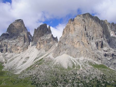 sudtirol: Mountains in Val Gardena, Italy Stock Photo