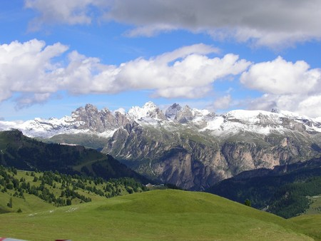 Landscape of Val Gardena, Italy photo