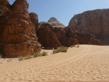 Desert of Wadi Rum, Jordan  photo