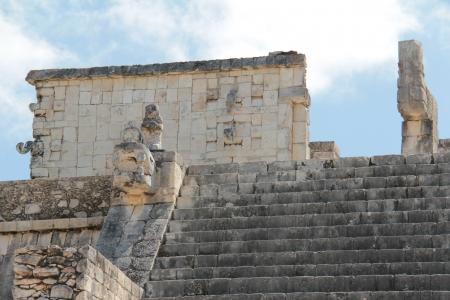 The monument at Chichen Itza on the Yucatan Peninsula, Mexico photo