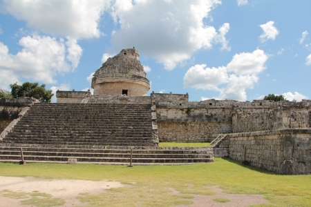 The monument Caracol at Chichen Itza on the Yucatan Peninsula, Mexico photo