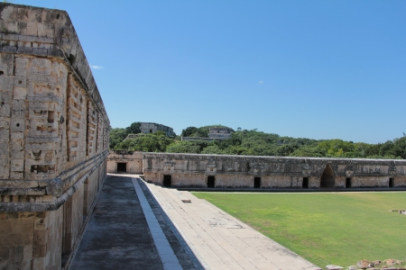 The Nunnery Quadrangle in the Mayan site of Uxmal in Yucatan photo