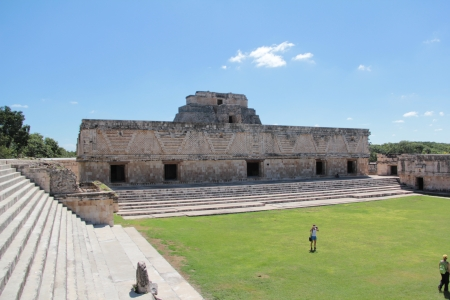 The Nunnery Quadrangle in the Mayan site of Uxmal in Yucatan Stock Photo - 17270462