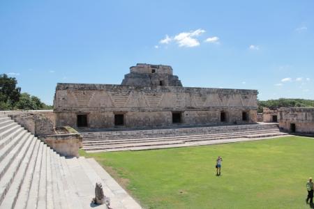 The Nunnery Quadrangle in the Mayan site of Uxmal in Yucatan Stock Photo - 17270462