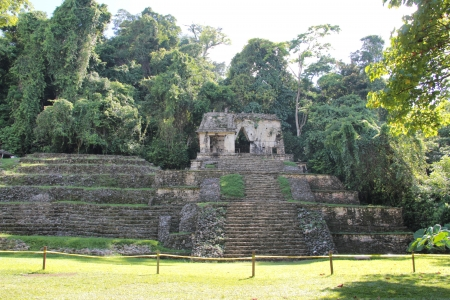 Temple of the Skull, Palenque, Chiapas, Mexico Stock Photo - 18141898