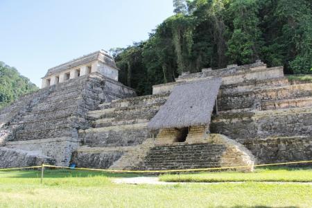 inscriptions: Temple of the Inscriptions, Palenque, Chiapas, Mexico Stock Photo