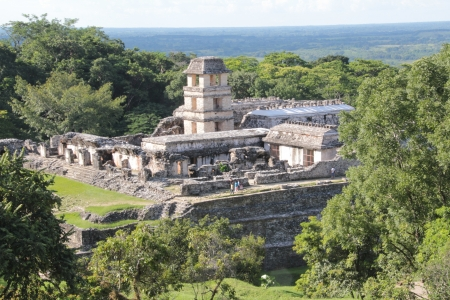 View of Palenque, Chiapas, Mexico photo