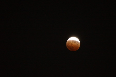 Total lunar eclipse photo