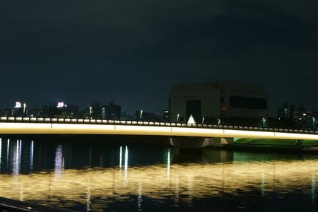 sumida: Sumida River night view