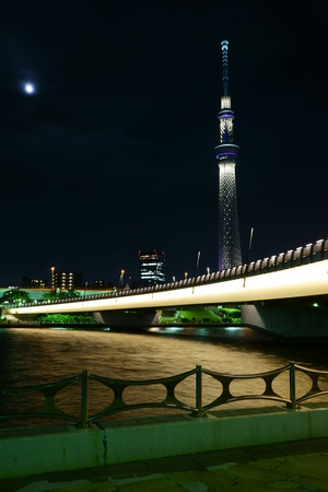 sumida ku: Sumida River night view
