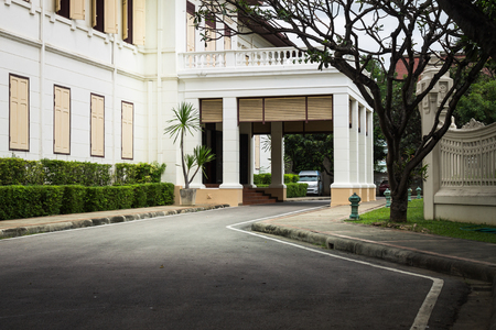 out door: Chiang Mai Thailand September, 06-2015: public museum out door view no one walking through.