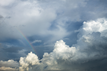 rain cloud: Cloudscape has developed in gorgeous form with rainbow and after that became rain cloud.