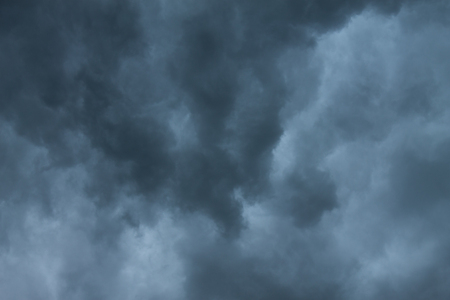 darken: The darken cloud is gathering to become rain or storm uncertainly.