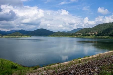 lake with mountains Stock Photo