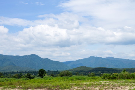 rural area: The moutainious view was pictured from somewhere in rural area.